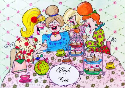 Goede High Tea? Wij hebben een grappige uitnodiging! - Uitnodiging maken FB-51