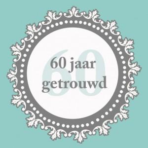 60 jaar getrouwd tekst kaart Prachtige tekst huwelijksjubileum: 60 jaar getrouwd   Uitnodiging  60 jaar getrouwd tekst kaart