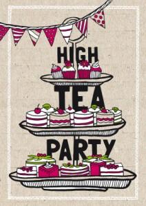 Super High tea Party: een feestkaart met thee! - Uitnodiging maken JQ-99